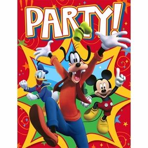 Mickey Mouse Pack Of 8 Invitations - Group